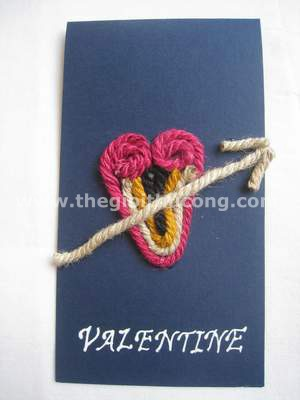 Thiệp Valentine dây thừng